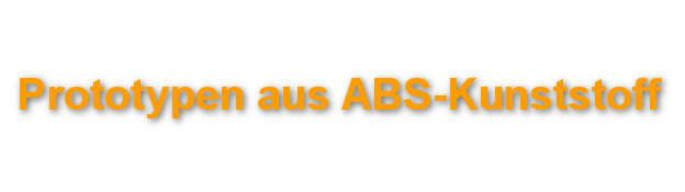 Prototypen ABS 3D-Druck-Service