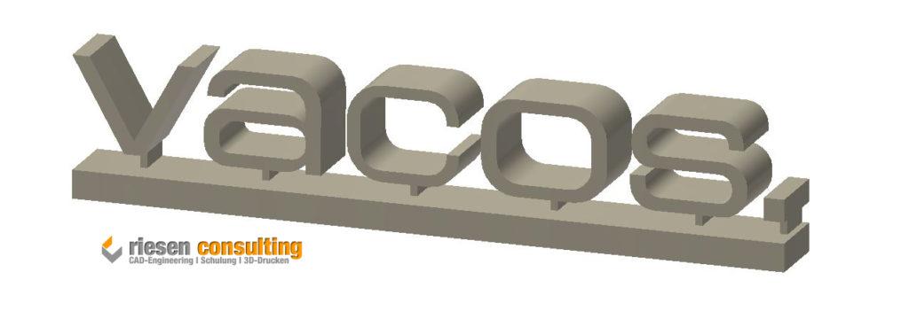Konstruktion des Logos im CAD-System Autodesk Inventor.