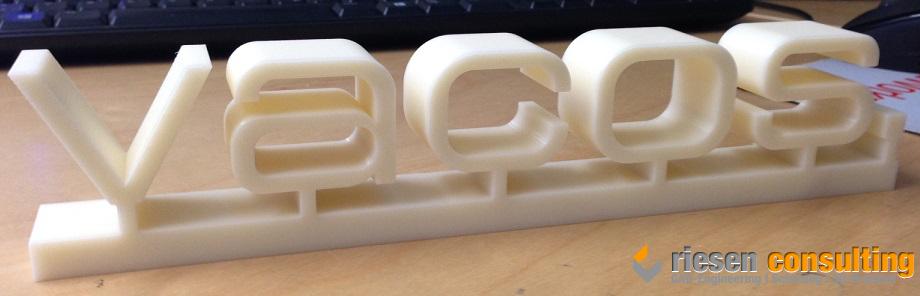 Fertiges 3D-Firmenlogo aus ABS-Kunststoff