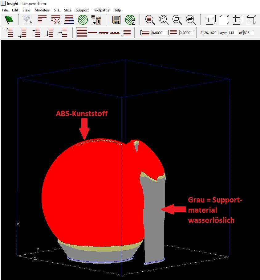 Programmierung inkl. Slicen der STL-Datei zu einer Druckfähigen-Datei
